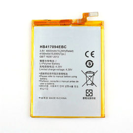 Cina HB417094EBC Huawei Mobile Phone Battery, Huawei Mate7 Battery 3.8V 4000mAh pabrik
